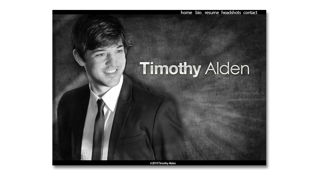 Tim website home page